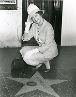 1960 Arlene Dahl with her star on the Hollywood Walk of Fame