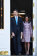 042518 Spanish Royals attend a lunch with President of United States of Mexico at Zarzuela Palace