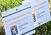 ALKMAA - Golfbaan Sluispolder, gereserveerd competiespelers, competitie, spelen, NGF, bord, FOTO KOEN SUYK