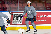 KELOWNA, BC - SEPTEMBER 23:  Ethan Bear #74 of the Edmonton Oilers practices at Prospera Place on September 23, 2019 in Kelowna, Canada. (Photo by Marissa Baecker/Shoot the Breeze)