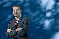 English novelist and conceptual artist Tom McCarthy, pictured at the Edinburgh International Book Festival where he talked about his new book entitled 'C.' The three-week event is the world's biggest literary festival and is held during the annual Edinburgh Festival. The 2010 event featured talks and presentations by more than 500 authors from around the world.