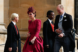 The Duke and Duchess of Cambridge arrive for the wedding of Princess Eugenie to Jack Brooksbank at St George's Chapel in Windsor Castle.