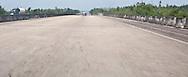 US 90 4-lane highway overpass  in Louisiana panorama