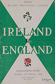 Rugby 1955-12/02 Five Nations Ireland Vs England