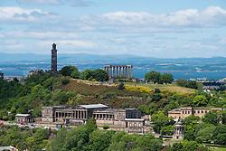 View of Calton Hill in Edinburgh, Scotland