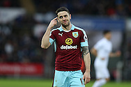 Robbie Brady of Burnley looks on. Premier league match, Swansea city v Burnley at the Liberty Stadium in Swansea, South Wales on Saturday 4th March 2017.<br /> pic by Andrew Orchard, Andrew Orchard sports photography.