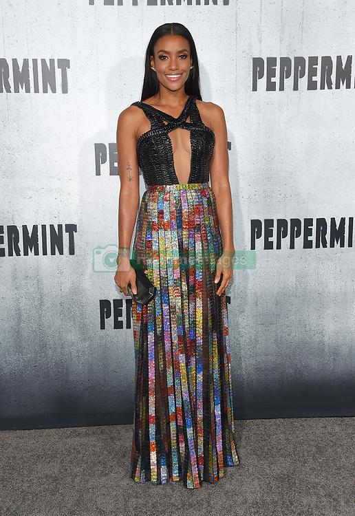 August 30, 2018 - Los Angeles, California, USA - 8/28/18.Annie Ilonzeh at the premiere of ''Peppermint'' held at the Regal Cinemas LA Live in Los Angeles, CA, USA. (Credit Image: © Starmax/Newscom via ZUMA Press)