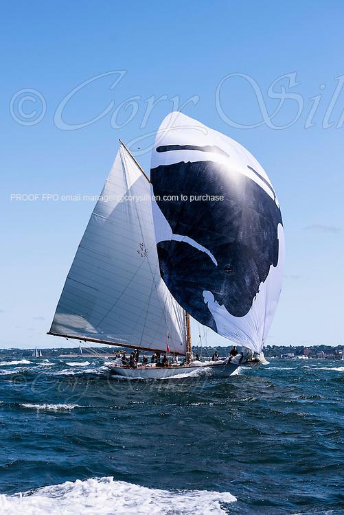 Marilee sailing in the Newport Classic Yacht Regatta.