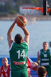 Slavko Kotnik of Slovenia during exhibition match between Croatia, Italy and Slovenia at Eurobasket 2013 promotion Basketball on sea raft on August 24, 2013, Koper, Slovenia. (Photo by Matic Klansek Velej / Sportida.com)