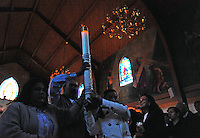 At Christ the King in Salinas, parishioners filled the church for a moving Holy Saturday vigil led by Fr. Antonio Sanchez, spreading the warmth of candlelight one by one through the expectant crowd.