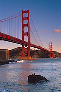Golden Gate Bridge seen from Fort Point, The Presidio, San Francisco, California