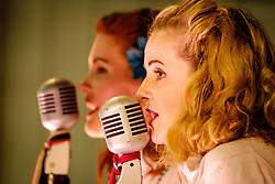 Sunday 7th May 2017 East Fortune:  Wartime Experience at the National Museum of Flight, East Fortune  The Blitz Sisters entertain.<br /> <br /> (c) Andrew Wilson | Edinburgh Elite media