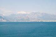 Turkey, Antalya view of Antalya Bay April 2009