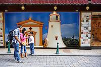 Chine, Macao, Calcada do Barra, representation du phare de Guia// China, Macau, Calcada do Barro, Guia lighthouse