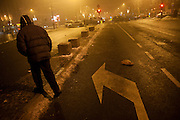 New Year's Eve (December 31) in Belgrade, Serbia. Parliament square and Pionirski Park. Leaving the main square after the New Year's Eve party.