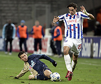 Fotball<br /> Foto: Dppi/Digitalsport<br /> NORWAY ONLY<br /> <br /> FOOTBALL - UEFA CUP 2005/2006 - GROUP STAGE - GROUP F - OLYMPIQUE MARSEILLE v SC HEERENVEEN - 24/11/2005 <br /> <br /> GEORGIOS SAMARAS (HEE) / BOSTJAN CESAR (OM)