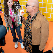 NLD/Amsterdam/20180325 - Nickelodeon Kid's Choice Awards 2018, Youtuber Bibi ord geinterviewd door maik de Boer