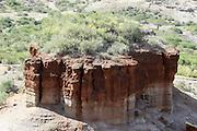 Tanzania, Serengeti National Park a hill showing erosion