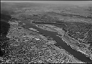 """Ackroyd 02997-04. """"Portland City July 10, 1951"""" (northwest industrial district and Willamette River looking north.)"""