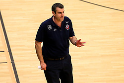Bristol Flyers head coach Andreas Kapoulas - Photo mandatory by-line: Robbie Stephenson/JMP - 29/03/2019 - BASKETBALL - English Institute of Sport - Sheffield, England - Sheffield Sharks v Bristol Flyers - British Basketball League Championship