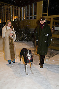 CHIARA KRUGER; GEORGE; ( DOG) DANIEL KLIWITZKY. margerita senati; ann landsiseino, Maloja Palace. St. Moritz, Switzerland. 23 January 2009 *** Local Caption *** -DO NOT ARCHIVE-© Copyright Photograph by Dafydd Jones. 248 Clapham Rd. London SW9 0PZ. Tel 0207 820 0771. www.dafjones.com.<br /> CHIARA KRUGER; GEORGE; ( DOG) DANIEL KLIWITZKY. margerita senati; ann landsiseino, Maloja Palace. St. Moritz, Switzerland. 23 January 2009