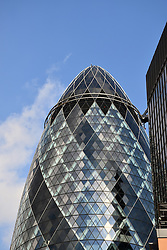 30 St Mary Axe, aka The Gherkin or The Swiss Re building, City of London, UK July 2016