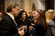 Duncan Ward, Mollie Dent-Brocklehurst and Pauline Karpidas, Dinner at the Italian Embassy in which the winner of the MaxMara Art Prize ( in collaboration with the Whitechapel art gallery )for Women is announced. Grosvenor Sq. London. 29 January 2008.  -DO NOT ARCHIVE-© Copyright Photograph by Dafydd Jones. 248 Clapham Rd. London SW9 0PZ. Tel 0207 820 0771. www.dafjones.com.