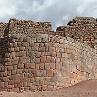 View on the Pisac fortification walls.