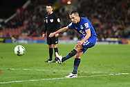 Leon Osman of Everton in action. Barclays Premier League match, Stoke city v Everton at the Britannia Stadium in Stoke on Trent , Staffs on Wed 4th March 2015.<br /> pic by Andrew Orchard, Andrew Orchard sports photography.