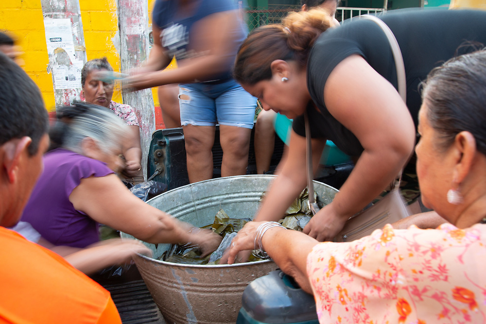 A parish group in Pijijiapan, Chiapas, had a whip round for the ingredients and spent all night preparing 2,000 tamales for the migrants. All the parishes worked together, Catholic, Baptist, Protestant, along with the municipality, to make sure that all the migrants, several thousand of them, had a meal and a safe place to sleep.