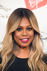 Laverne Cox pictured backstage at the Attitude Awards, where she won won the Inspiration award, at the Roundhouse in North London. Picture date: Thursday October 12th, 2017. Photo credit should read: Matt Crossick/ EMPICS Entertainment.