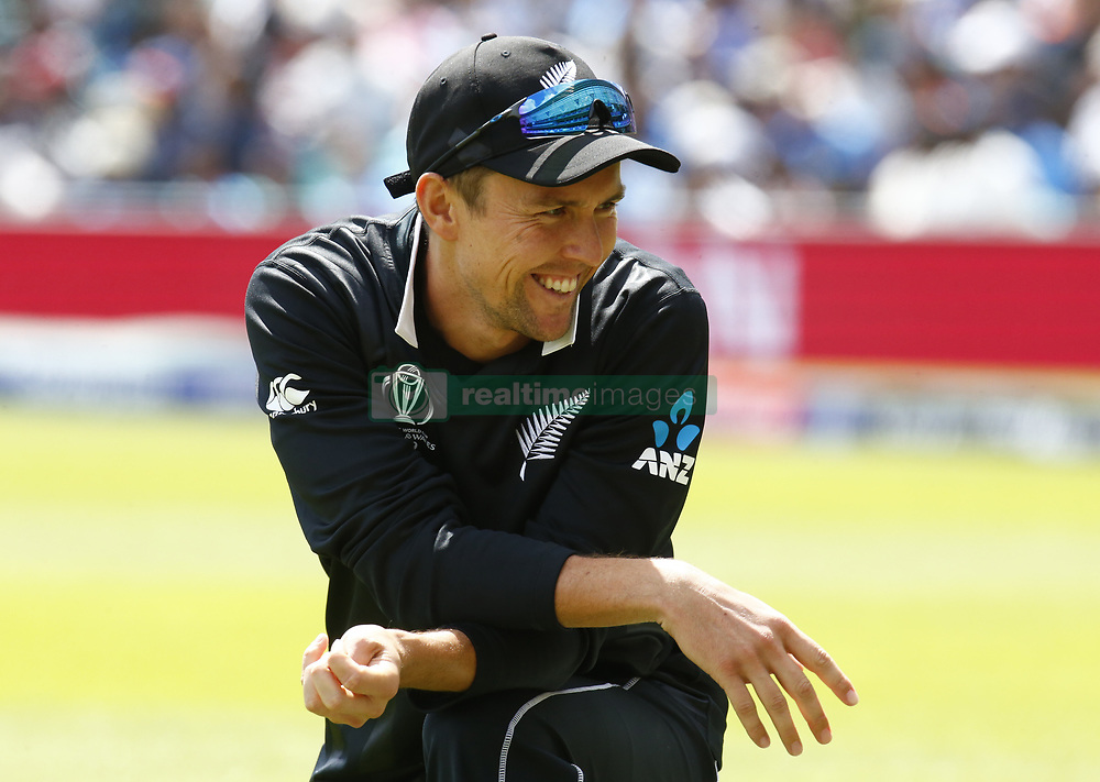 May 25, 2019 - London, England, United Kingdom - Trent Boult of New Zealand.during ICC World Cup - Warm - Up between India and New Zealand at the Oval Stadium , London,  on 25 May 2019. (Credit Image: © Action Foto Sport/NurPhoto via ZUMA Press)