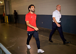 NEW JERSEY, USA - Wednesday, July 25, 2018: Liverpool's Mohamed Salah arrives before a preseason International Champions Cup match between Manchester City FC and Liverpool FC at the Met Life Stadium. (Pic by David Rawcliffe/Propaganda)