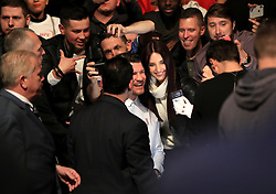 UFC Fighter Michael Bisping poses with fans at The O2 Arena, London. PRESS ASSOCIATION Photo. Picture date: Saturday March 17, 2018. See PA Story UFC London. Photo credit should read: Simon Cooper/PA Wire