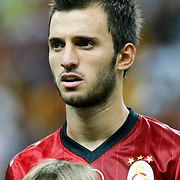 Galatasaray's Emre Colak during their Turkish Super League soccer match Galatasaray between Bursaspor at the TT Arena at Seyrantepe in Istanbul Turkey on Sunday 02 September 2012. Photo by TURKPIX