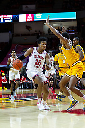 NORMAL, IL - February 15: Jaycee Hillsman works to get into the lane while defended by Nick Robinson during a college basketball game between the ISU Redbirds and the Valparaiso Crusaders on February 15 2020 at Redbird Arena in Normal, IL. (Photo by Alan Look)