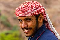 Bedouin man, Dana Biosphere Reserve, Wadi Feynan, Jordan.