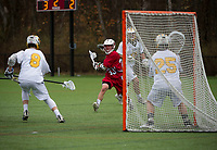 St Paul's School boys varsity Lacrosse with Tilton School. ©2018 Karen Bobotas Photographer