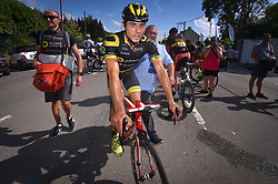July 28, 2018 - Les Bons Villers, BELGIUM - French Romain Cardis of Direct Energie pictured after the first stage of the Tour De Wallonie cycling race, 193,4 km from La Louviere to Les Bons Villers, on Saturday 28 July 2018. BELGA PHOTO LUC CLAESSEN (Credit Image: © Luc Claessen/Belga via ZUMA Press)