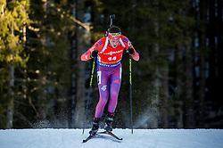 Tim Burke (USA) during Men 12,5 km Pursuit at day 3 of IBU Biathlon World Cup 2015/16 Pokljuka, on December 19, 2015 in Rudno polje, Pokljuka, Slovenia. Photo by Vid Ponikvar / Sportida