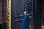 Chinese buddhist monk. Jade Buddha Temple  in Shanghai. Asia, china.