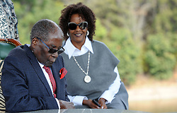 29/07/2018:Zimbabwe,Harare. Grace Mugabe with her husband, former president Robert Mugabe after held a press conference at his Blue Roof residence.746<br /> Picture: Matthews Baloyi/AFrican News Agency (ANA)