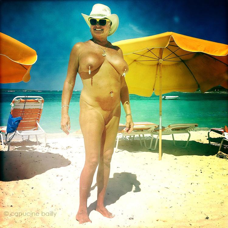Oriental Bay nudist beach, Saint-Martin Island. French Caribbean..March 31st 2012
