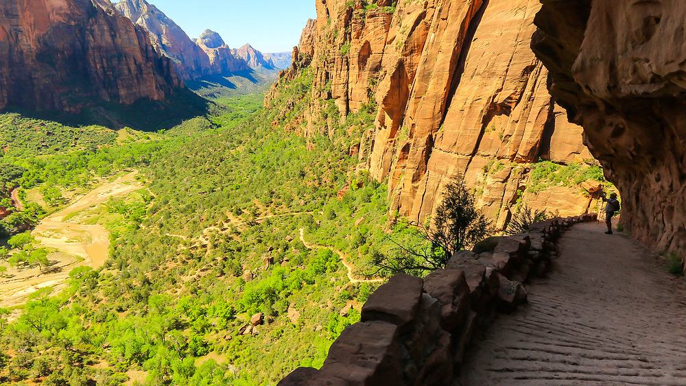 Hiking West Rim trail to Scout Lookout and Angels Landing. Photo taken May 12, 2016.