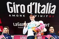 Podium Christopher Froome (GBR - Team Sky) celebration during the 101th Tour of Italy, Giro d'Italia 2018, stage 14, San Vito Al Tagliamento - Monte Zoncolan 181 km on May 19, 2018 in Italy - Photo Ilario Biondi / BettiniPhoto / ProSportsImages / DPPI