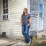 Sharon Strine stands by what used to be a general store in Wolfsville, Maryland, on Tuesday, September 26, 2017. Strine is the plaintiff in a case contesting the redistricting of Maryland's Congressional Districts. Formerly of Maryland's 6th District, Wolfsville is now part of the 8th District. The 6th was redistricted in 2011, combining rural northern Maryland regions with more affluent communities like near Washington D.C. turning the district from Republican to Democrat. For The Wall Street Journal