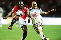 FOOTBALL - FRENCH CHAMPIONSHIP 2010/2011 - L1 - PARIS SG v GIRONDINS DE BORDEAUX - 22/08/2010 - PHOTO GUY JEFFROY / DPPI - ZOUMANA CAMARA (OSG) / YOANN GOUFFRAN (OBR)