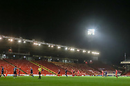 General view of Pittodrie during the Scottish Premiership match between Aberdeen and Hamilton Academical FC at Pittodrie Stadium, Aberdeen, Scotland on 20 October 2020.