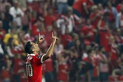 October 27, 2017 - Lisbon, Portugal - Benfica's forward Jonas celebrates his goal  during Primeira Liga 2017/18 match between SL Benfica vs CD Feirense, in Lisbon, on October 26, 2017. (Credit Image: © Carlos Palma/NurPhoto via ZUMA Press)