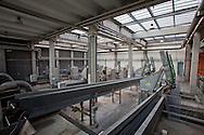 San Rocco, Milano sud : Impianto di depurazione delle acque reflue. San Rocco Waste Water Treatment plant. nella foto le macchine per la grigliatura.